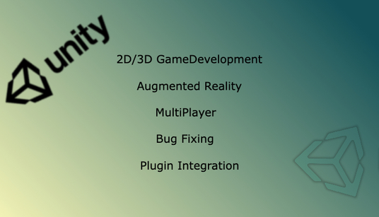 provide my services related to Game Development & AR AppDevelopment related to Unity GameEngine