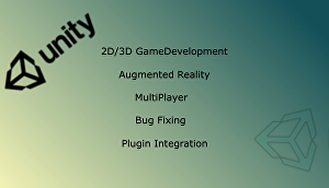 I will provide my services related to Game Development & AR AppDevelopment related to Unity G