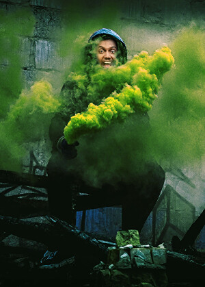 I will edit photo with smoke effect