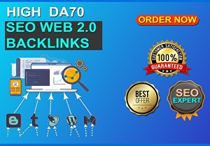 I will Build Extreme 200 web 2.0 blogs  with PR9  DA 70+ SEO Authority Backlinks - Fire Your Goog