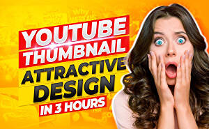 I will design 3 amazing catchy youtube thumbnail