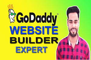 I will create godaddy website or godaddy online store