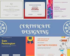I will design any kind of certificates for you