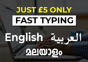 I will do fast typing, retype scanned documents in 3 languages