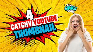 I will Design 4 awesome youtube thumbnails
