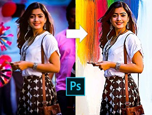 I will draw stunning digital oil painting of your photo