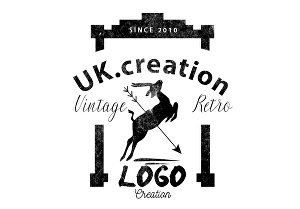 I will design premium vintage retro logo