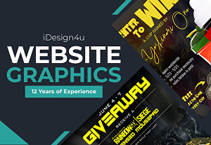 I will create an awesome banner design or banner ads for your website