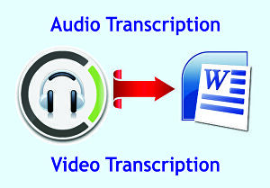 I will Transcribe audio and video quickly and accurately