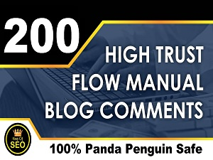 I will Submit 200 High Trust Flow Manual Blog Comments Seo  Backlinks
