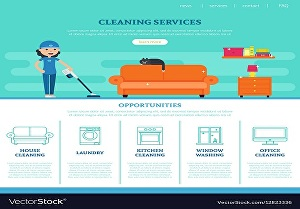 I will do house cleaning booking services website