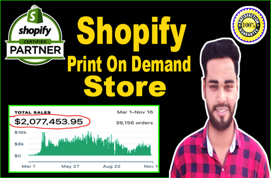 create print on demand shopify store or shopify website