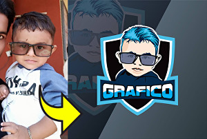 I will make your own mascot esport twitch logo from your photo
