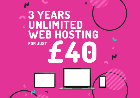 give you 3 years, Unlimited Web Hosting