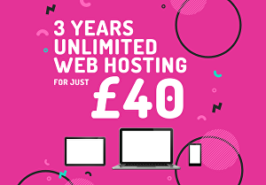 I will give you 3 years, Unlimited Web Hosting