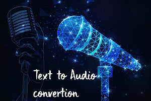 I will convert text to audio and audio to text transcription