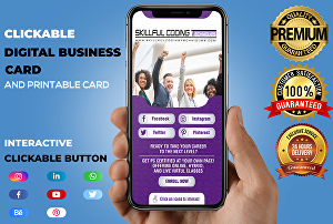 I will do mobile-optimized digital business card, vcard, electronic card