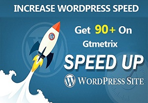 I will give 90 plus google pagespeed insights score of website on GTmetrix