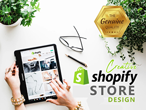 I will design shopify dropshipping store website