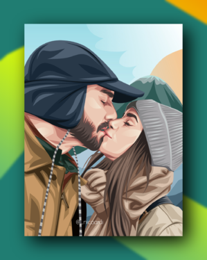 draw amazing couple portrait of you
