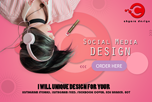 I will Create unique design banner or cover for your social media