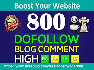 I will Create 800 High Quality Dofollow Blog Comments Backlinks Manually on High DA30+