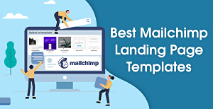 I will create a professional Mailchimp landing page and email template