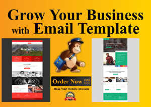 I will create a responsive HTML email template