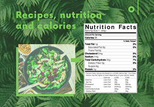 I will create nutritional charts for your recipes - up to 5 recipes