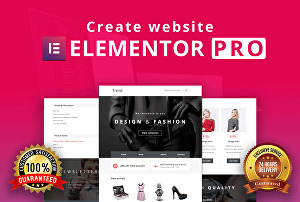 I will create a responsive WordPress website or landing page with Elementor pro page builder