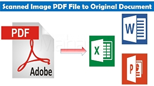 I will convert PDF to word or scanned pages to word or google docs
