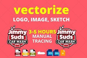 I will Redraw, Vectorise, Redesign Logo,Jpeg,Png,Sketch Into Vector Ai,Psd