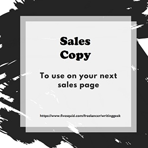 I will write persuasive sales page, sales copy, landing page