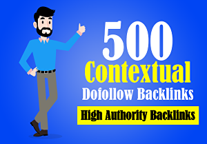 I will Create High Authority 500 Contextual Dofollow Backlinks For SEO