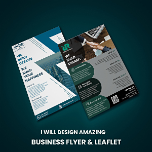 I will design amazing professional business flyers or leaflet
