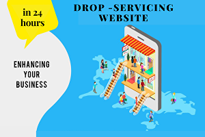 I will create a professional drop servicing website for you in 24 hours