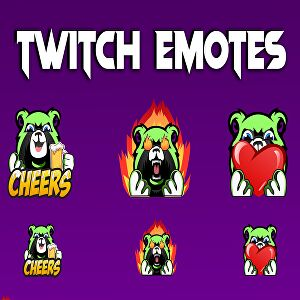 I will create twitch emotes and sub badges