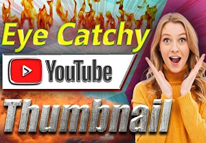 I will design youtube thumbnail