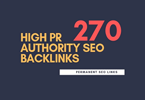 I will do 275 high pr authority SEO backlinks,link building