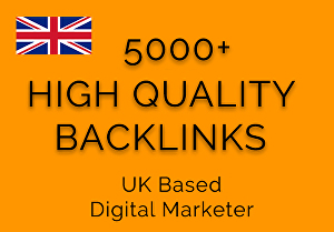 I will give you 5000+ High Quality Friendly Backlinks