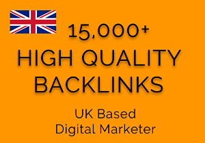 I will give you 15000+ High Quality Friendly Backlinks