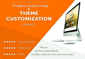 I will install and setup wordpress website and do theme customization