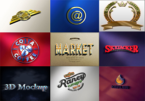 I will convert your transparent logo or text into high quality  3D mockup design