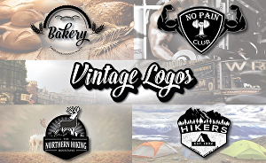 I will design a retro vintage logo for you