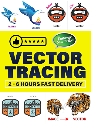 I will vectorize your logo, convert image to vector, vector tracing super fast