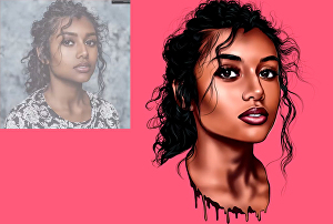 I will Do Your Picture Into Gorgeous Model Caricature Cartoon