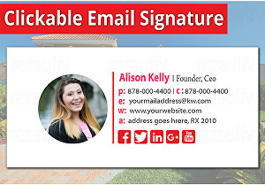 I will create  email signature, clickable HTML email signature