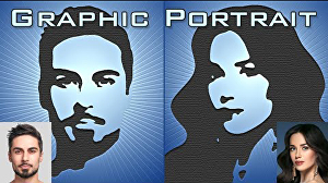I will draw graphic portrait from your photos