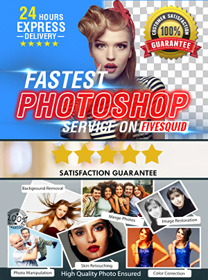 I will do professional photoshop editing on your images