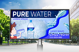 I will design stunning billboards and banners